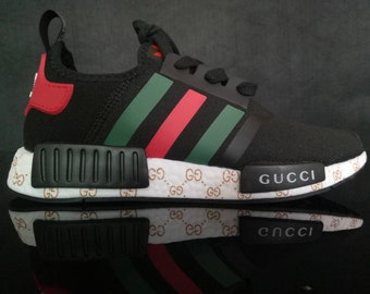 c6584aef51704 adidas nmd tri colore casual shoes gucci style paint print mens womens  black color athletic run sneakers