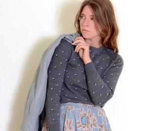 60s Patterned Grey Knit