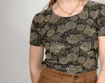 90s Floral Burnout Tee / by Frazier Lawrence / small - medium