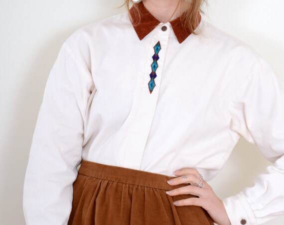 90s Southwestern Button Up / Small - Med