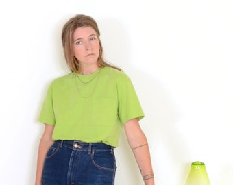 90s Lime Pocket Tee