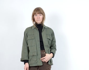 Vintage Army Green Shirt Jacket / small - medium - large