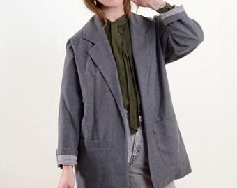 Minimal Open Front Blazer Jacket