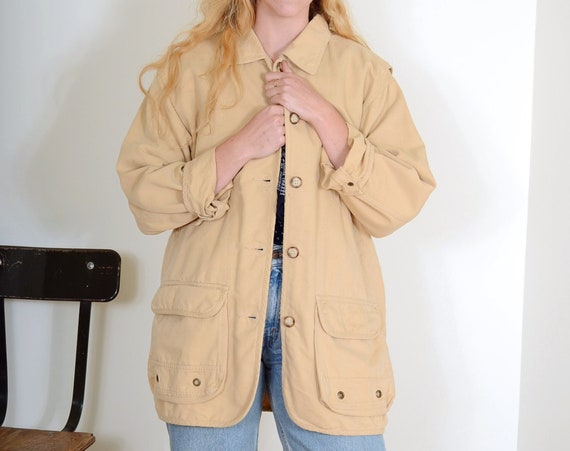 90s Cotton Field Jacket by Eddie Bauer / Small - Large