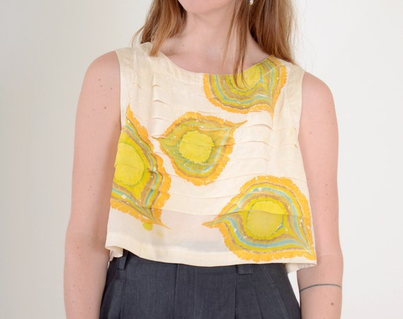 Marble Dyed Silk Tank / Small - Med