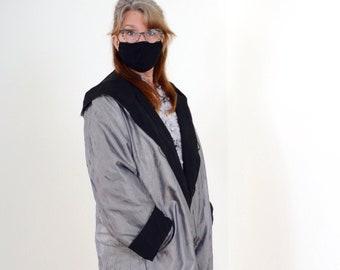 90s Reversible Shiny Crinkle Jacket
