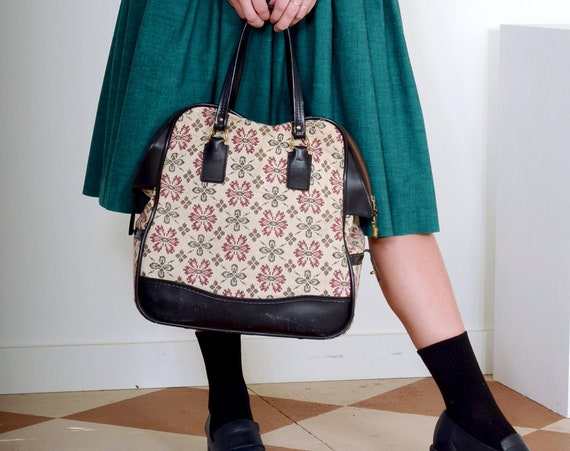60s Oversized Floral Upholstery Bag