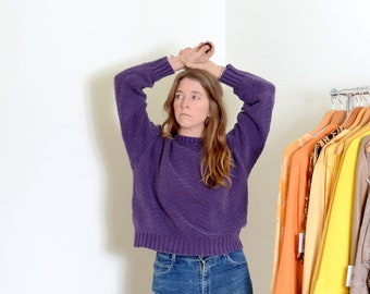 90s Purple Cotton LL Bean Sweater