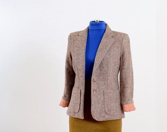 Flecked Oat Blazer Jacket