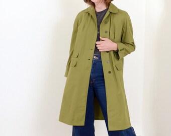 60s Olive Workwear Style Coat