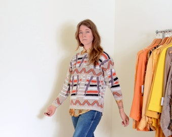 80s Funky Patterned Sweater