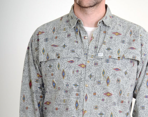80s Southwestern Shirt by Guess / Small - Med