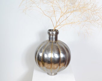 Oversized Spherical Silver Statement Vase