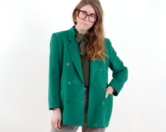 Green Wool Blazer Jacket