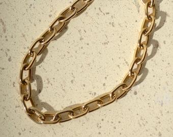 "Minimal Gold Chain Link Bracelet / 7"" length"