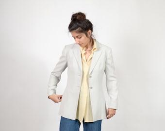 90s Dusty Grey Tailored Blazer / by Georgiou Studio / small - medium
