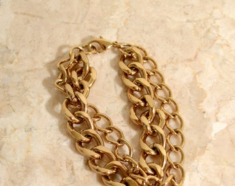 Layered Gold Chain Bracelet