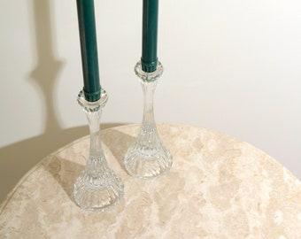 Pair of Crystal Candlestick Holders