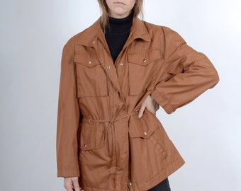 1970s Raw Sienna Windbreaker Jacket / by Forecaster Sport / medium - large