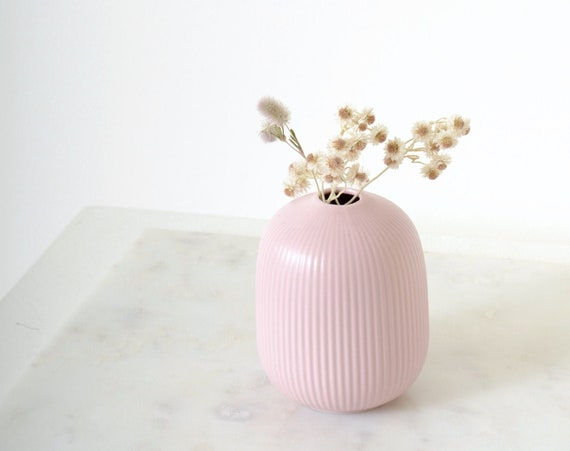 Ribbed Ceramic Bud Vase