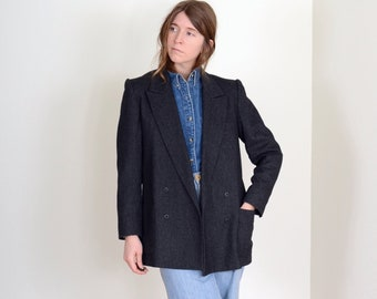 Charcoal Wool Blazer Jacket