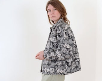Boxy Cotton Tapestry Jacket