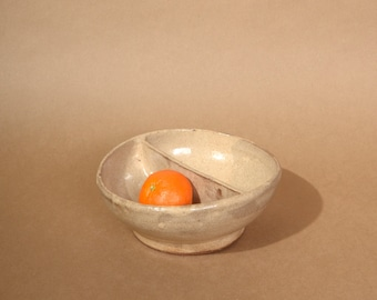 "Two Sided Ceramic Bowl / c. 1972 / Signed Pottery by ""Duncan"""