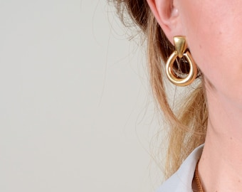 Gold Tone Drop Earrings by Monet