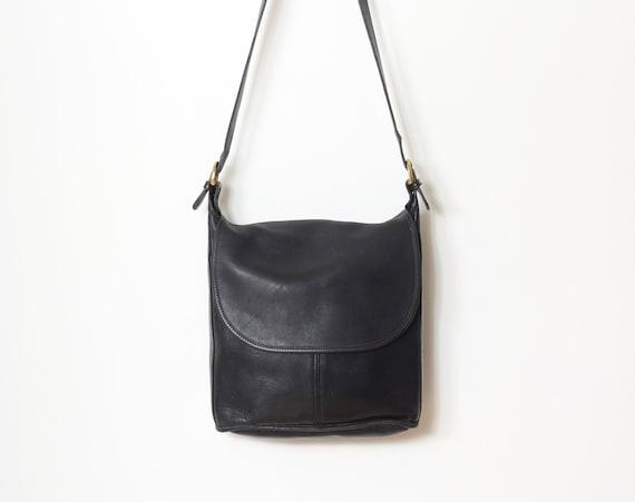 Minimalist Black Leather Bag