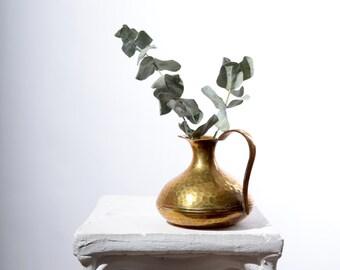 """Hammered Brass Bud Vase / 4"""" height"""
