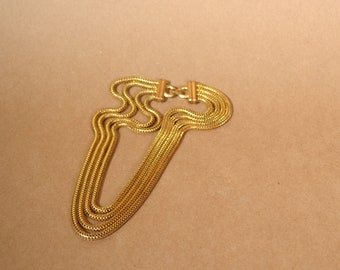 """Vintage Gold Chain Layered Necklace / 18"""""""