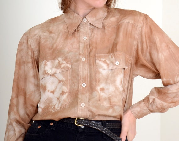 Walnut Dyed Silk Blouse