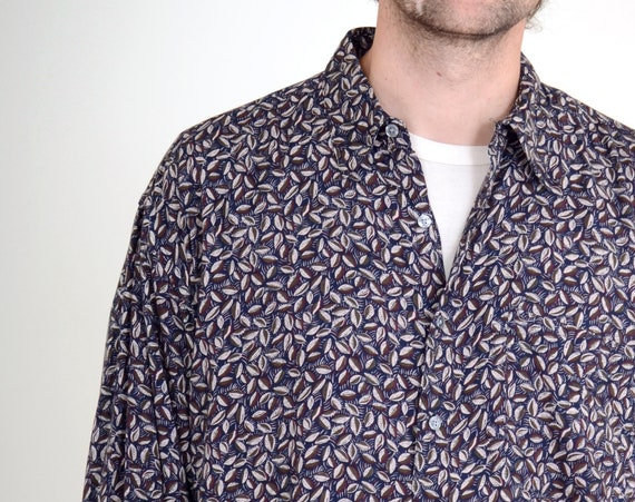 90s Seed Pattern Button Up / Med - XL