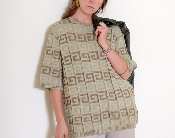 Spiral Pattern Knit Top