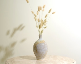 70s Neutral Tones Ceramic Bud Vase