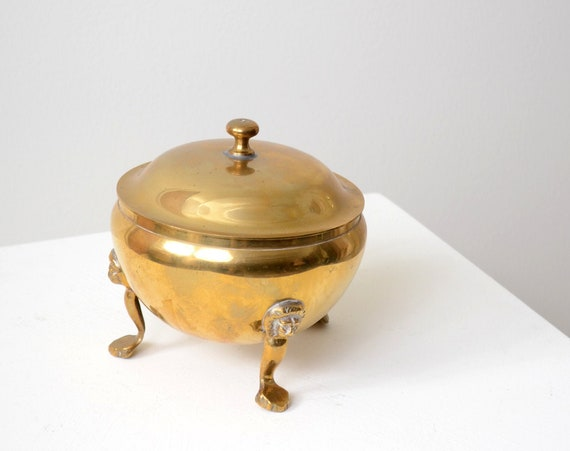 Lions Head Brass Catchall