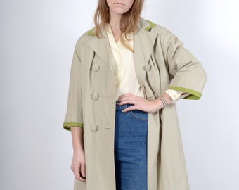1950s Double Breasted Weather Resistant Coat / by Chumley, Charles F. Berg / medium - large