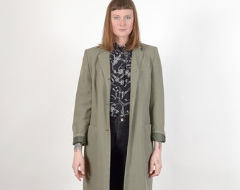 1990s Elongated Blazer Coat / by Morton Bernard / medium - large