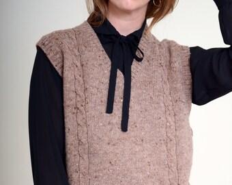 80s Wool Grandpa Sweater Vest