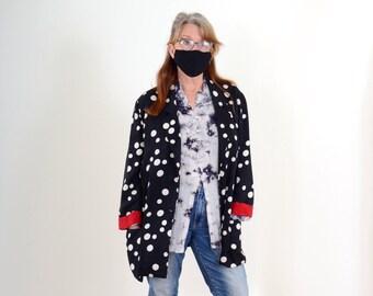 80s Silk Polka Dot Blazer by Liz Claiborne