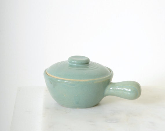 Minty Ceramic Lidded Bowl