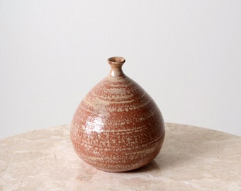 Bulbous Pink Ceramic Bud Vase