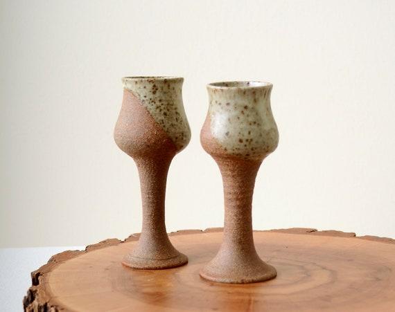 Ceramic Stemmed Shot Glasses