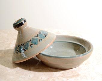 Painted Ceramic Lidded Dish