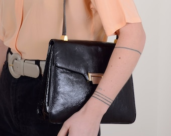 Patent Leather Box Bag