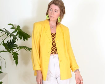 90s Dusty Yellow Blazer Jacket