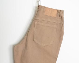 "High Waisted Tan Jeans / 28"" - 29"" waist"