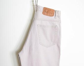 "Khaki Cotton Jeans / 26"" waist"