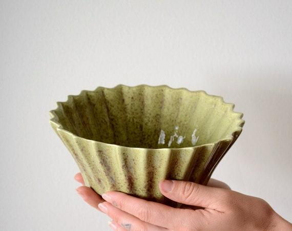 Fluted Ceramic Bowl