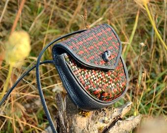 Woven Leather Mini Bag